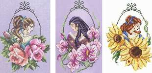 Click for more details of Flower Faes (cross stitch) by Passione Ricamo