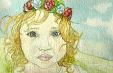 Click for more details of Flower Fairy (watercolour on paper) by Julie Peden
