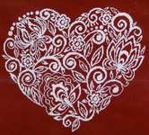 Click for more details of Flower Lace Heart (cross stitch) by Alessandra Adelaide Needleworks