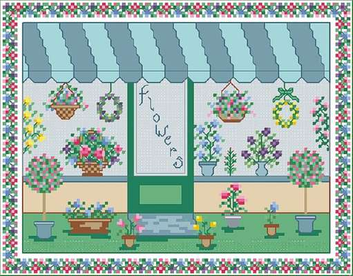 Click for more details of Flower Shop (cross-stitch pattern) by Designs by Cathy