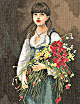 Click for more details of Flowergirl (cross-stitch) by Lanarte