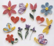 Click for more details of Flowers and Friends (quilling) by Quilled Creations