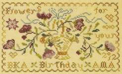 Click for more details of Flowers for You (cross-stitch) by Blackbird Designs