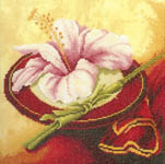 Click for more details of Flowers from the Orient (1) (cross-stitch kit) by Lanarte