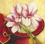 Click for more details of Flowers from the Orient (3) (cross-stitch kit) by Lanarte