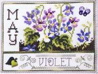 Click for more details of Flowers of the Month May -Violet (cross-stitch) by Stoney Creek