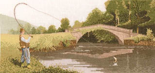 Click for more details of Fly Fishing (cross-stitch pattern) by John Clayton