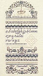 Click for more details of Forget Me Not Sampler (hardanger pattern) by The Sweetheart Tree