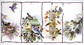 Click for more details of Four Seasons Birds (cross-stitch) by Janlynn