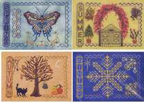 Click for more details of Four Seasons (cross stitch) by Turquoise Graphics & Designs