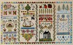 Click for more details of Four Seasons Sampler (cross stitch) by Jeannette Douglas