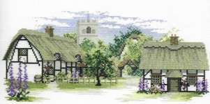 Click for more details of Foxglove Lane (cross-stitch) by Rose Swalwell