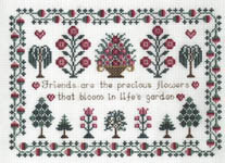 Click for more details of Friends Sampler (cross-stitch kit) by Teresa Reynolds