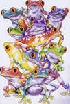 Click for more details of Frog Pile (cross-stitch kit) by Design Works