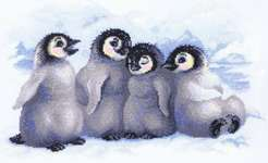 Click for more details of Funny Penguins (cross-stitch kit) by Riolis
