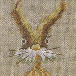 Click for more details of Funny Rabbit (cross-stitch kit) by Lanarte