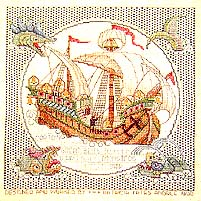 Click for more details of Galleon and Sea Monsters (cross-stitch pattern) by Counted Illuminations