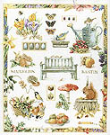Garden Bench Sampler - cross-stitch kit by Marjolein Bastin