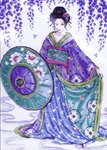 Click for more details of Garden Geisha (cross-stitch kit) by Design Works