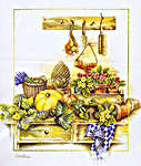 Click for more details of Garden Produce (cross-stitch kit) by Lanarte