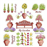 Click for more details of Garden Sampler (cross-stitch kit) by Anette Eriksson