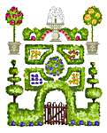 Click for more details of Garden Samplers (cross-stitch kit) by Anette Eriksson