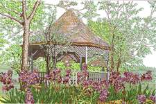 Click for more details of Gazebo (cross stitch) by Kappie Originals