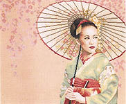 Click for more details of Geisha (cross-stitch kit) by Lanarte