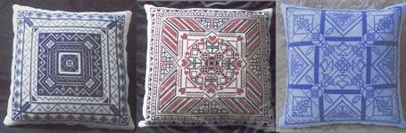 Click for more details of Geometric Cushions (cross stitch) by Golden Circle Designs