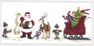 Click for more details of Getting Santa Ready (cross-stitch pattern) by The Design Connection Inc