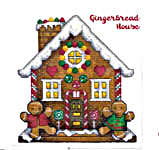 Click for more details of Gingerbread Cookies, House Towel Bands & Borders (cross-stitch pattern) by Donna Vermillion