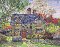 Click for more details of Gingerbread Cottage (cross-stitch kit) by Thomas Kinkade