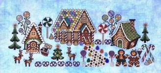 Click for more details of Gingerbread Grove (cross stitch) by Glendon Place