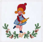 Click for more details of Girl with Rolling Pin (cross-stitch kit) by Eva Rosenstand