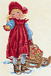 Click for more details of Girl with Sledge (cross stitch) by Eva Rosenstand