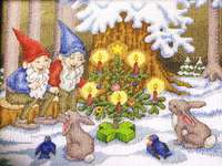 Click for more details of Gnome & Critter Christmas (cross stitch) by Annie's Attic