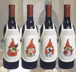 Click for more details of Gnome Wine Bottle Aprons (cross-stitch kit) by Permin of Copenhagen