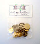 Click for more details of Gold Vintage Buttons x10 (buttons and brads) by Elizabeth Grace