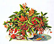 Click for more details of Golden Berries (cross stitch) by Eva Rosenstand