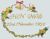 Click for more details of Golden Wedding Sampler (cross-stitch) by Anne Peden