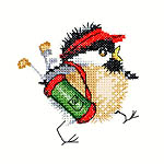 Click for more details of Golfing Chick (cross stitch) by Valerie Pfeiffer
