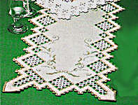 Click for more details of Green Lily of the Valley Table Runner (hardanger kit) by Permin of Copenhagen