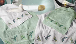 Click for more details of Green Towels (fabric) by Rico Design