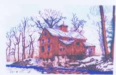 Click for more details of Grist Mill in Winter (cross-stitch pattern) by Kappie Originals