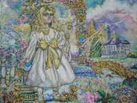 Click for more details of Guardian angel.  (limited edition print) by Yumi Sugai