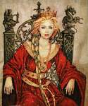 Click for more details of Guinevere Mini Kit (cross stitch) by Nimue Fee Main