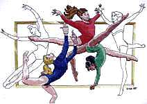 gymnastics cross stitch pattern