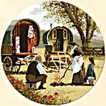 Click for more details of Gypsy Caravan (cross stitch) by John Clayton