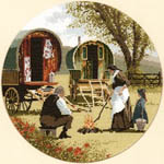 Click for more details of Gypsy Caravans (cross-stitch kit) by John Clayton
