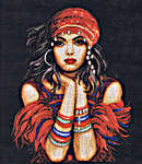 Click for more details of Gypsy Girl (cross-stitch kit) by Lanarte
